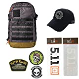 5.11 Kits Rapid Origin Molle Tactical Backpack, Hat, Patches, and Decals Set - Army/Military Pack - Stokehold