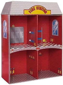 Puppenhaus Feuerwehr 2stöckig