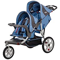 InStep Safari Double Tandem Stroller (16-Inch Blue)