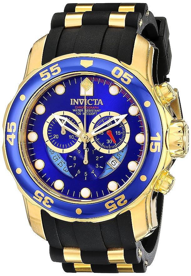 Pro Diver Blue Dial Black Polyurethane Watch