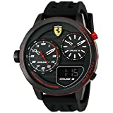 Scuderia Ferrari Men's 'XX Kers' Quartz Stainless Steel and Silicone Casual Watch, Color:Black (Model: 0830318)
