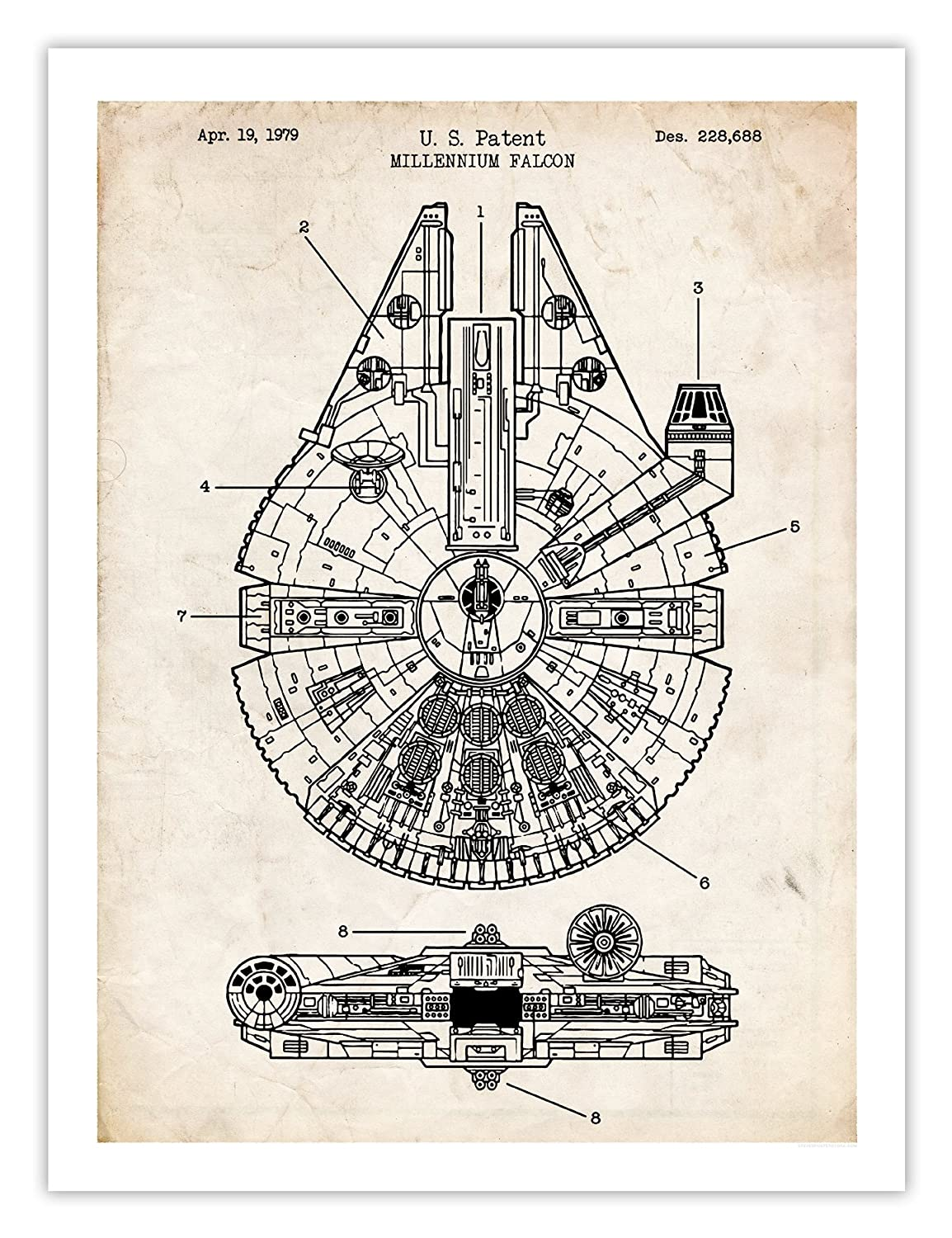 Star Wars Decor Items: The Falcon print
