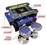 Creative Arcades Full-Size Commercial Grade Cocktail Arcade Machine | Trackball | Three-Sided | 1162 Classic Games | 4 Sanwa Joysticks | 2 Stools | 19