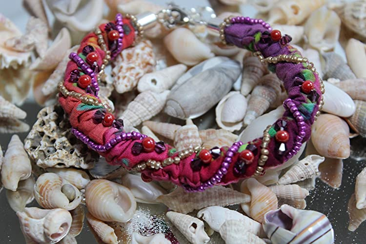 Bohemian Beaded Batik Bracelet