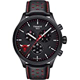 Tissot Men's Chrono XL NBA Chronograph Chicago Bulls - T1166173605100 Black/Black/Red One Size (Color: Black/Black/Red, Tamaño: One Size)