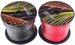 GS Power 10 Gauge Ga, 100' Red & 100' Black (200 ft Total) Primary Automotive Wire. for Car Audio Video Amplifier Remote Ground Radio Battery Relay Hook up Trailer Harness Model Train Cable Wiring (Color: Black)