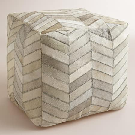 Cowhide Pouf - World Market