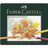 Faber-Castel 24 Piece Polychromous Colored Pencil Set in Metal Tin (Color: Multicolor, Tamaño: Tin Of 24)