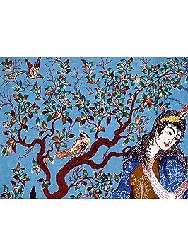 benuta tapis classique d 39 orient d 39 orient isfahan ca 1mio nd mc pas pas cher bleu 125x190. Black Bedroom Furniture Sets. Home Design Ideas