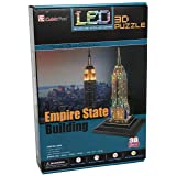 Empire State Building 3D Puzzle with LED 38 Pieces