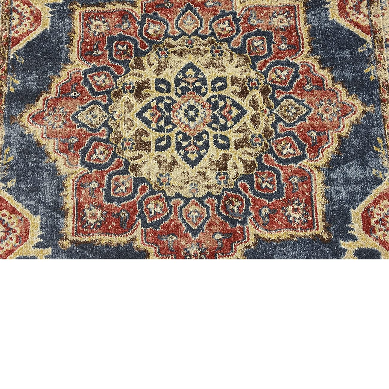 Traditional Persian Rugs Vintage Design Inspired Overdyed Fancy Dark Blue 4' x 6' FT (122cm x 183cm) St. James Area Rug 4