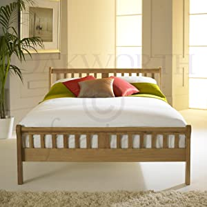 Virginia Solid Oak Bed Frame   Double       reviews and more information