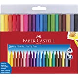 Faber-Castell GRIP Color Markers - 20 Washable Fineline Markers (Color: Assorted Colors)
