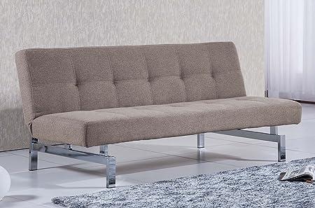 Sofá cama sistema clic clac modelo CHIC tejido Elegance color Moka – Sedutahome