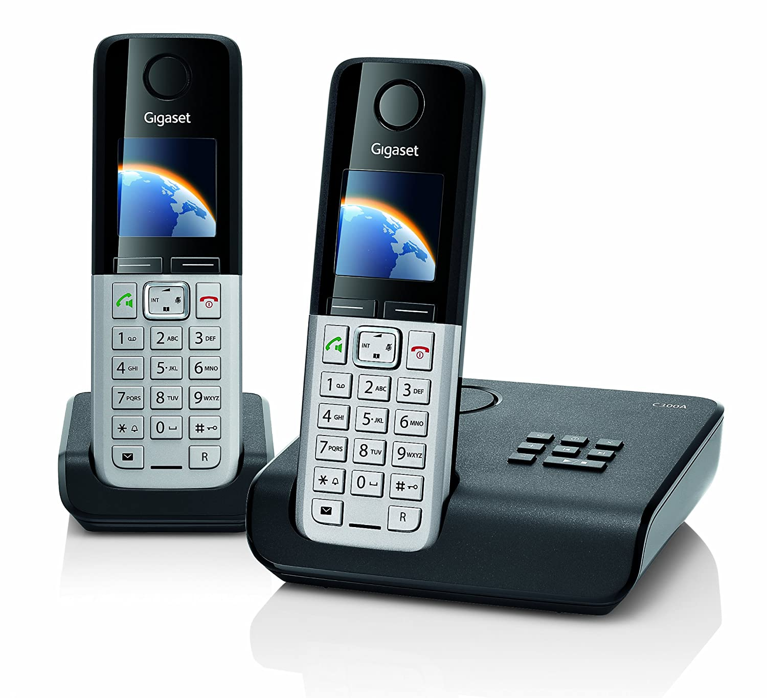 gigaset c300a twin dect cordless phone set with answer machine ebay. Black Bedroom Furniture Sets. Home Design Ideas