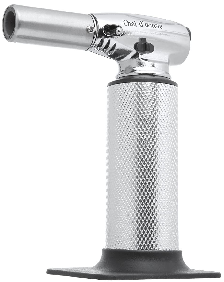CULINARY CREME BRULEE TORCH | Kitchen Butane Hand Torch - Elegant Chef Cooking Torch To Impress Your Guests - Food Blow Torch To Master Recipes & Enhance Your Dining - Butane Not Included