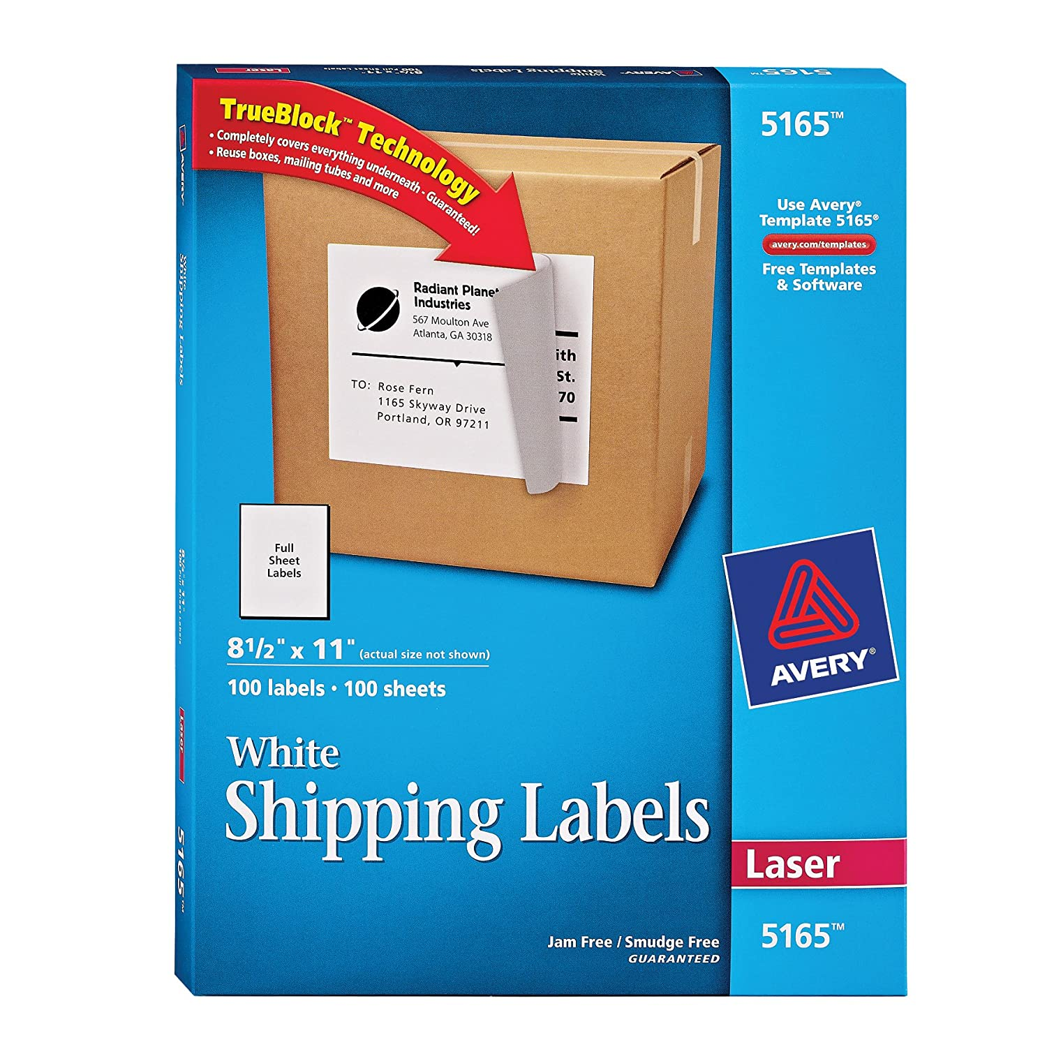 Avery Full Sheet Sticker Label Paper