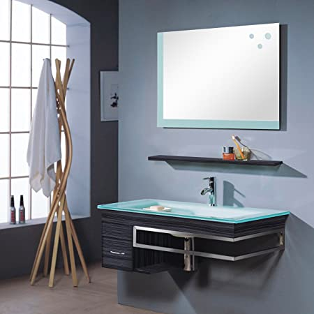 M-70130/238 Bari Bathroom Furniture Set Mirror / Base Cabinet / Basin Wenge