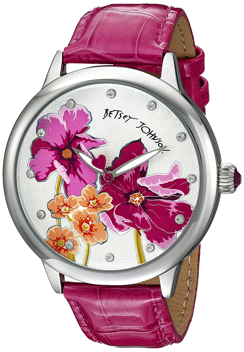 Betsey Johnson Women's BJ00280-15 Analog Display Quartz Pink Watch