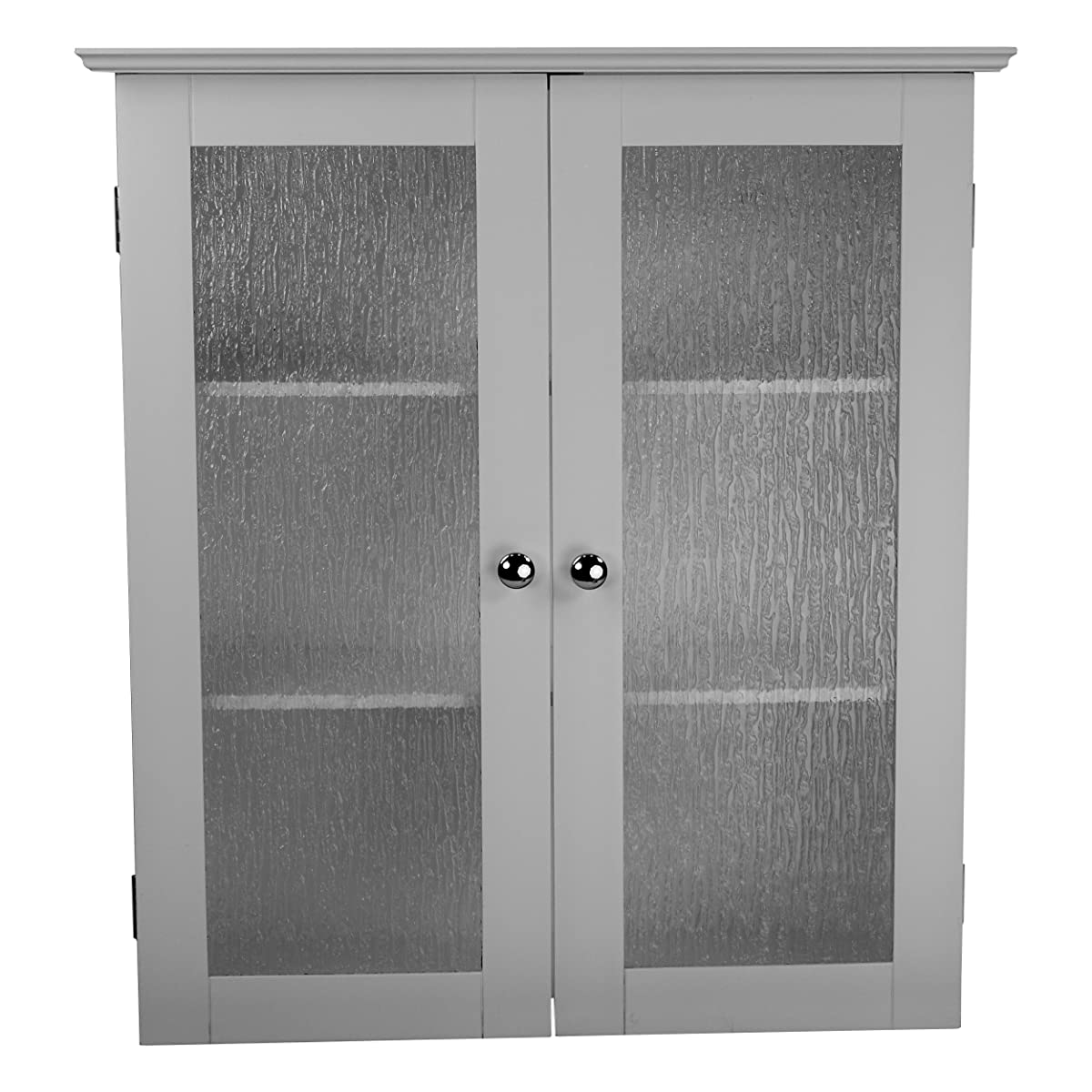 Elegant Home Fashions Rain Collection Wall Cabinet With 2