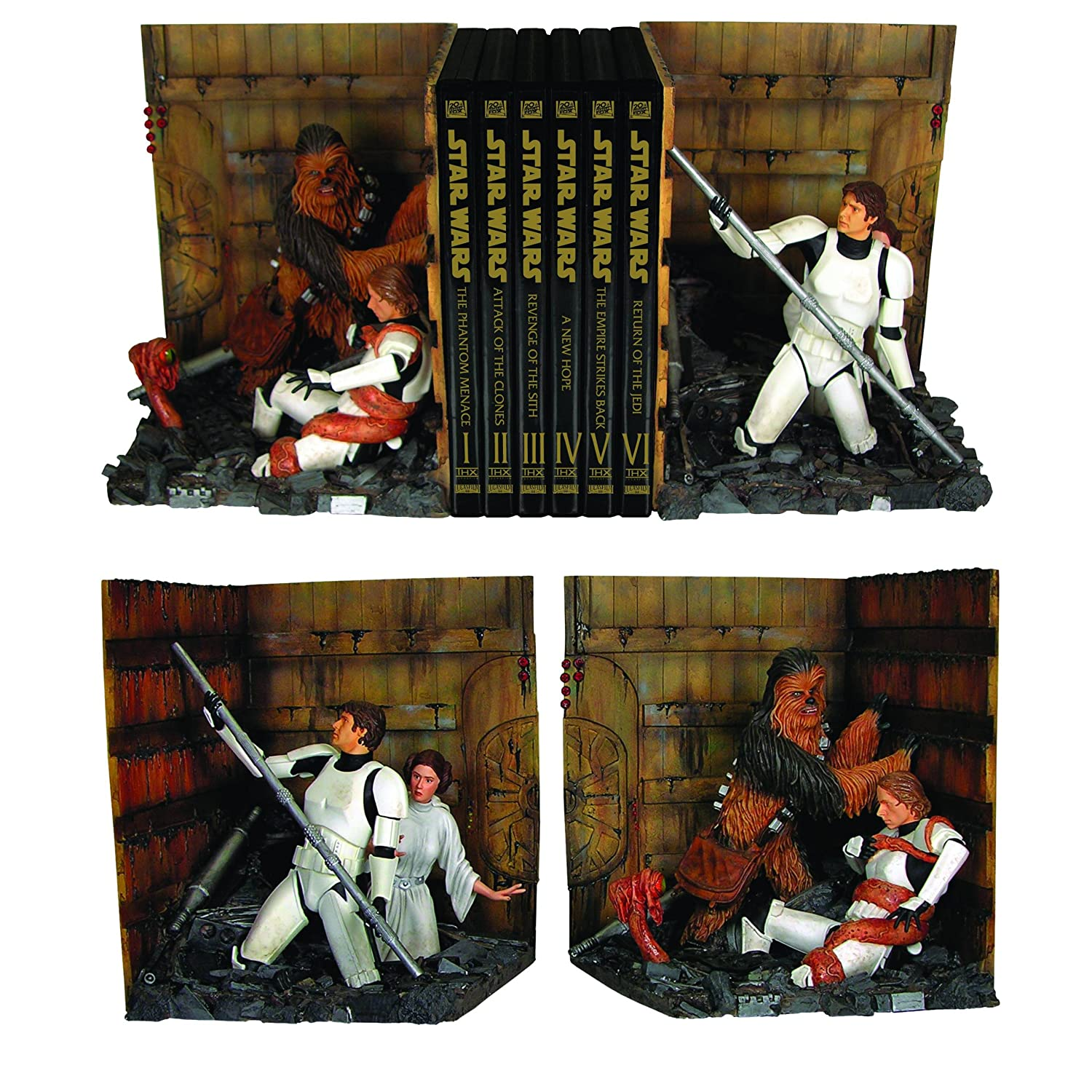 Star Wars: Trash Compactor Bookends