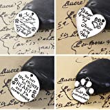 Dog Remembrance Charm Tags 20 Pack, Best Friend Passing, DIY Jewelry or Memorial (Set A) (Color: Set A, Tamaño: 1 inch)