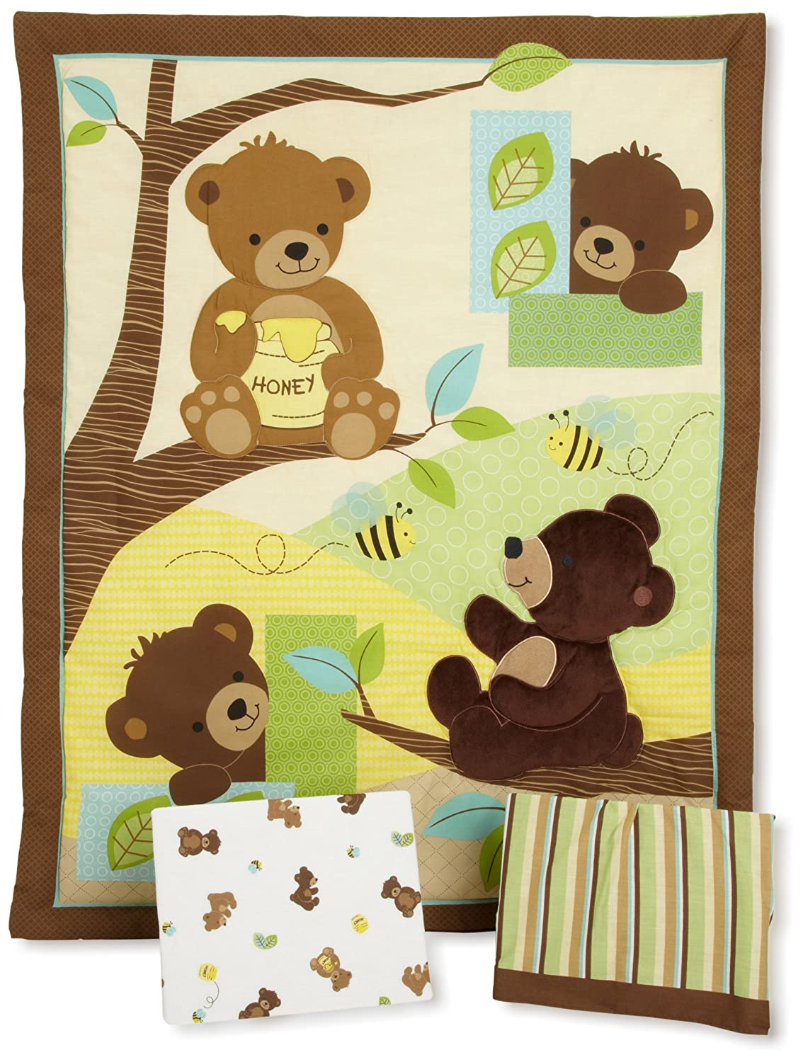 Bedtime Originals Honey Bear Crib Bedding