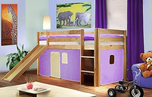 Sixbros kids letto rialzato letto a soppalco cameretta - Camerette bambini legno naturale ...