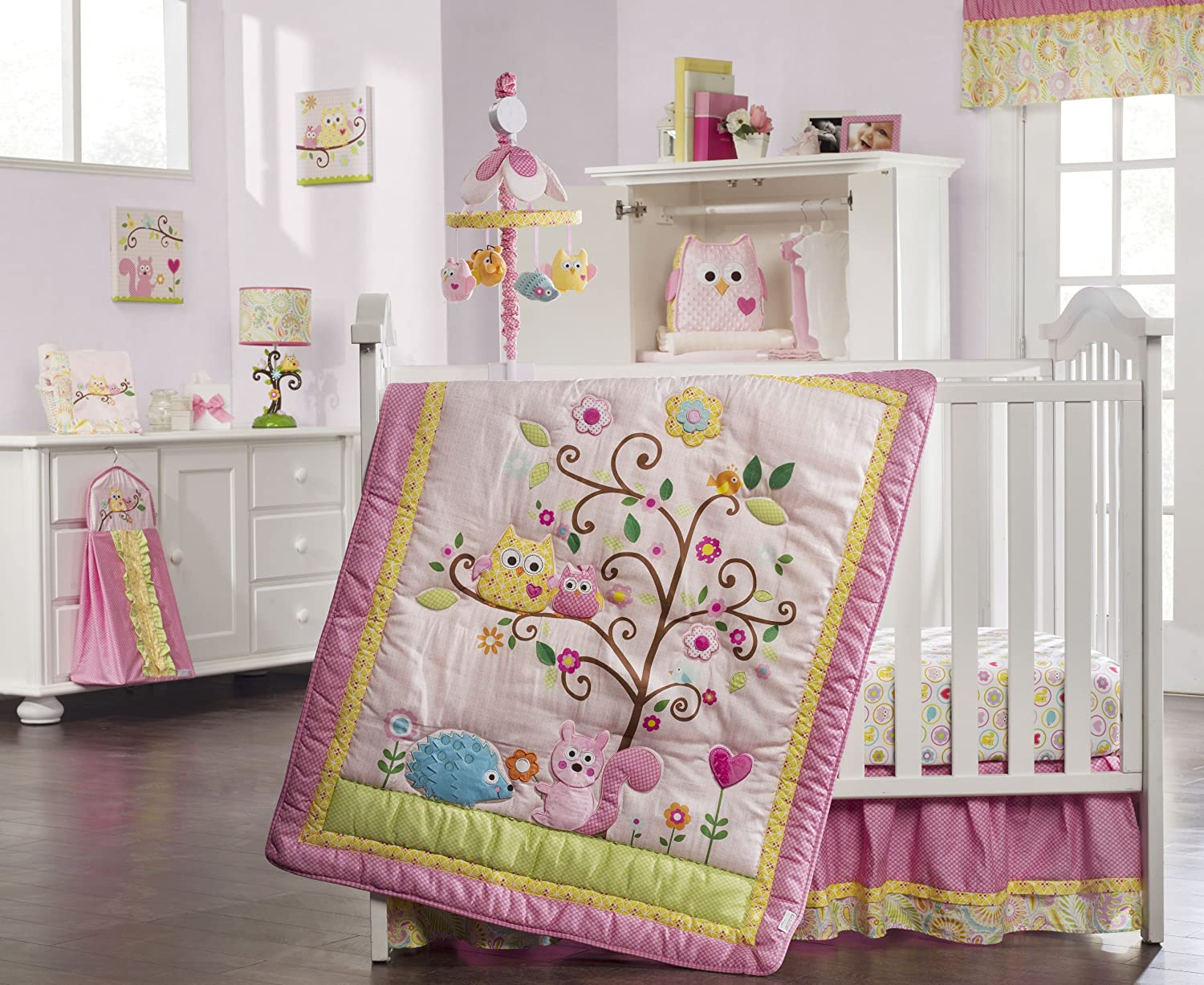 Owl baby bedding - Baby Girl Owl Crib Bedding Images Pictures Becuo
