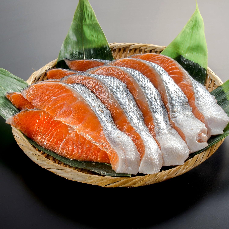 【小針水産】 銀鮭(サケ) 切り身 大切り(1パック10切入り) »