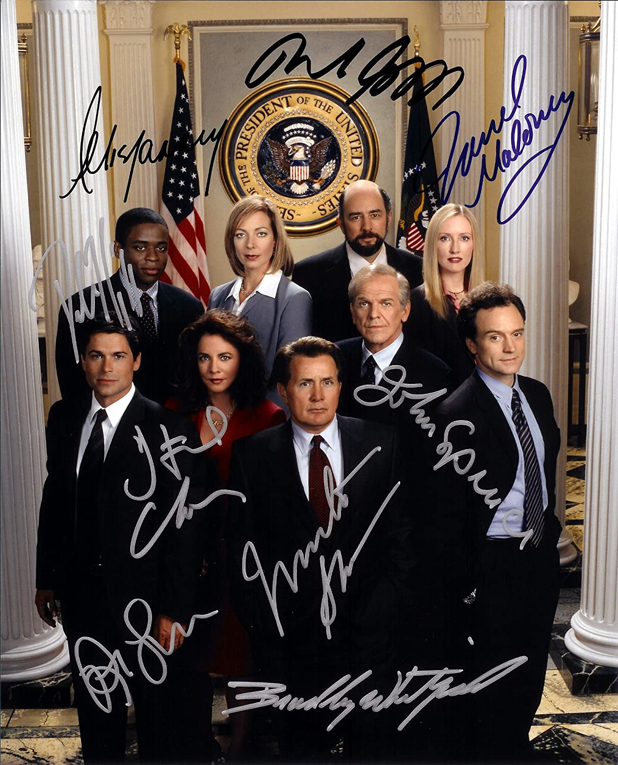The West Wing TV Series Cast Signed Autographed 8 X 10 RP Photo - Mint Condition got7 got 7 autographed signed group photo flight log arrival 6 inches new korean freeshipping 03 2017