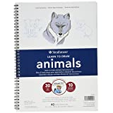 Strathmore (25-050 200 Learning Series Drawing Animals Pad (Color: White, Tamaño: 9x12 in)