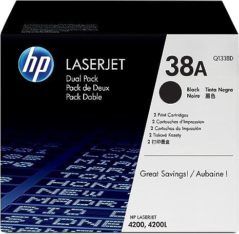 HP N°38A Q1338D 2 Cartouches de toner Noir