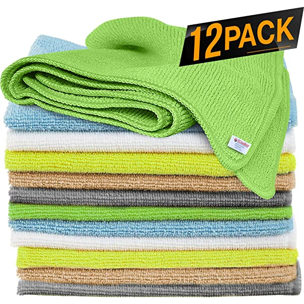 24x16 inch 3 Pack MR.LUSTRE Microfiber Buffing Towels for Cars Professional Grade Super Absorbent Car Cleaning Microfiber Towel for Washing Waxing Polishing Lint Free Auto Detailing Cloth