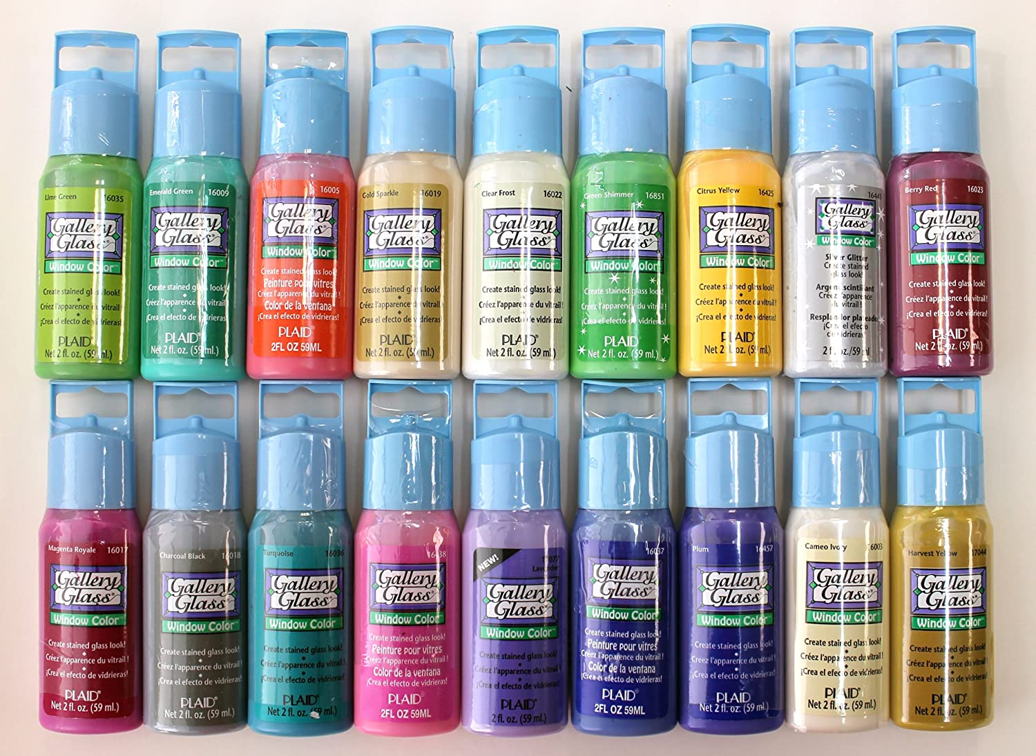 Plaid promoggii gallery glass acrylic paint 2 ounce best for Can i paint glass with acrylic paint