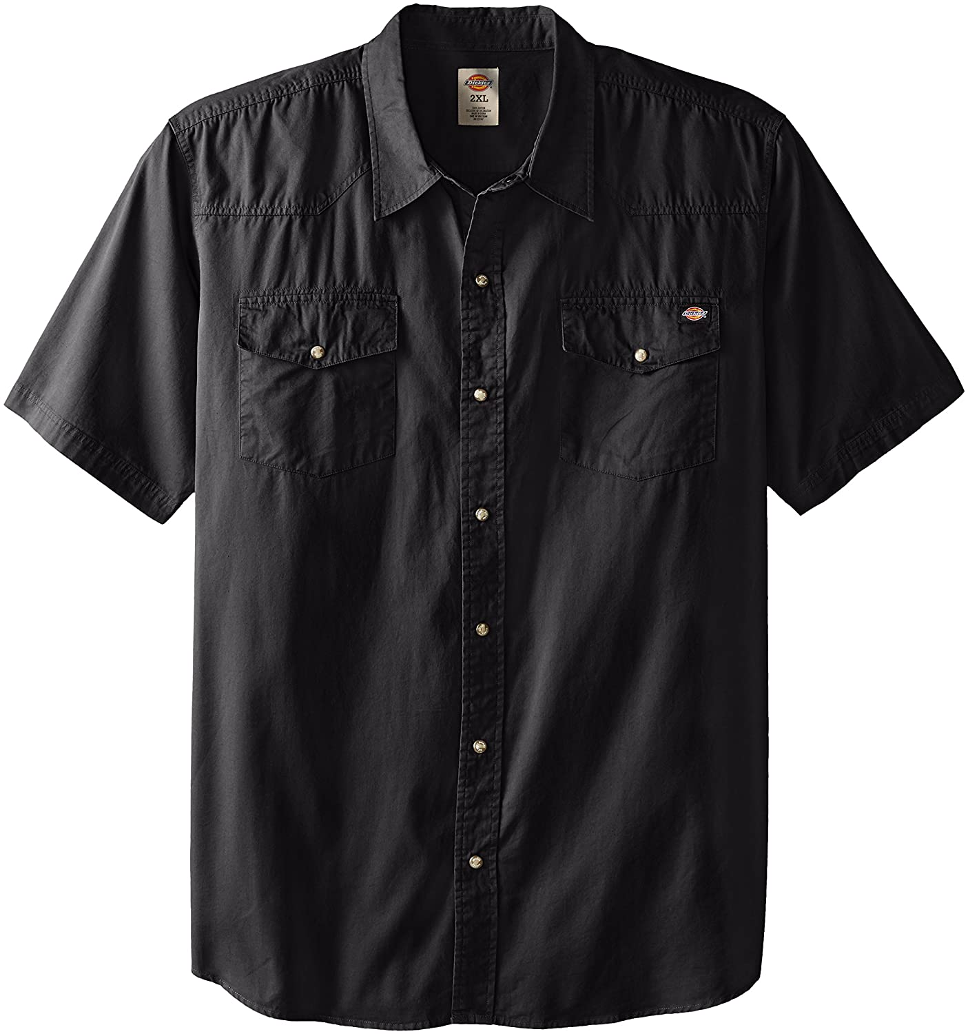 Dickies Men's Big Short Sleeve Twill Western Shirt dickies рубашка утепленная dickies ryker shirt jacket fiery red