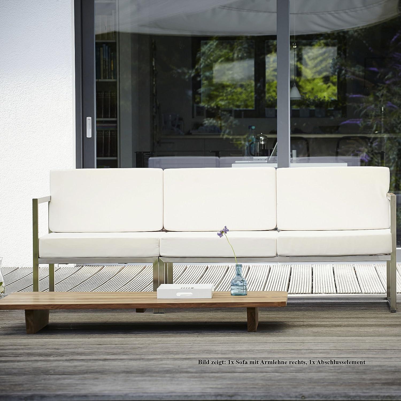 Lux Lounge Sofa 2-Sitzer Armlehne rechts / weiß bestellen
