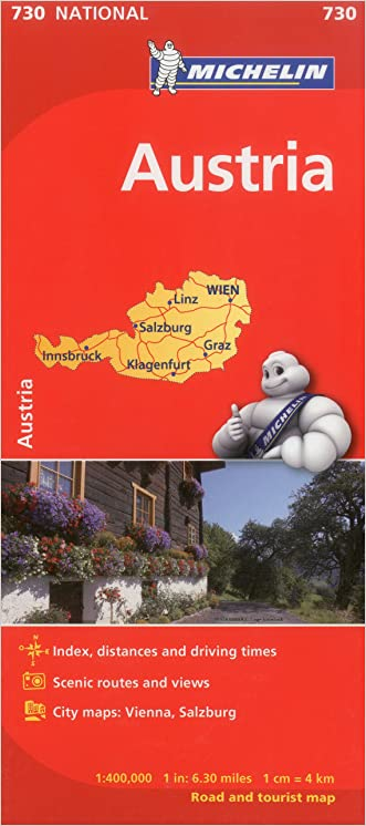 Michelin Austria Map 730 (Maps/Country (Michelin)) written by Michelin Travel %26 Lifestyle