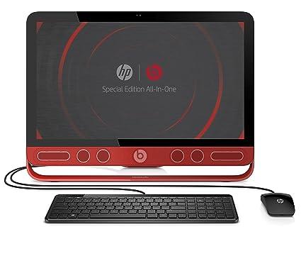 'HP Envy Beats 23-n203ns-Ordinateur de bureau tout en un 23(Intel Core i3-4160T, 4Go RAM, 1To, Intel HD Graphics 4400, Windows 8.1en a Windows 10), rouge-Clavier QWERTY espagnol