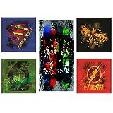 Modern Littles Justice League 5 Piece Wall Art Set, Multicolored