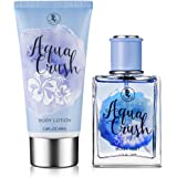 Beach Gal Aqua Crush Body Mist & Lotion Perfume Gift Set for Women 3 oz Lotion, 1.7 oz Spray (Color: Aqua Crush)