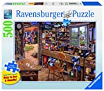 Ravenburger Puzzles Ravensburger Dad's Shed, Multi Color