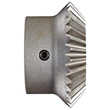 Boston Gear HLK Series Miter Gear, 1:1 Ratio, 20 Degree Pressure Angle, Straight Miter, Keyway, Steel with Hardened Teeth