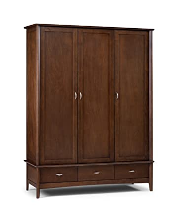Julian Bowen Minuet 3 Door Wardrobe, Dark Wood