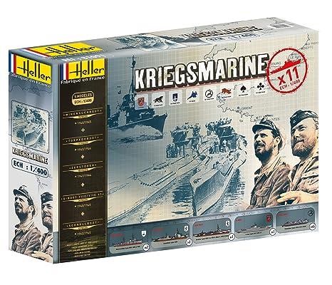 Heller - 81091 - Construction Et Maquettes - Coffret Kriegsmarine - Echelle 1/400ème