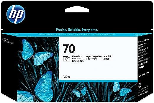 HP 70 Cartouche d'encre d'origine Vivera Noir Photo