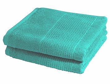 fleuresse 2828 fb 8 lot lot de 2 serviettes essuie mains essuie mains ponge bleu lagon 50. Black Bedroom Furniture Sets. Home Design Ideas