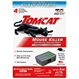 Tomcat Mouse Killer Disposable Station for Indoor Use - Child Resistant (4 Stations) (Color: (Child Resistant), Tamaño: 1 Pack)