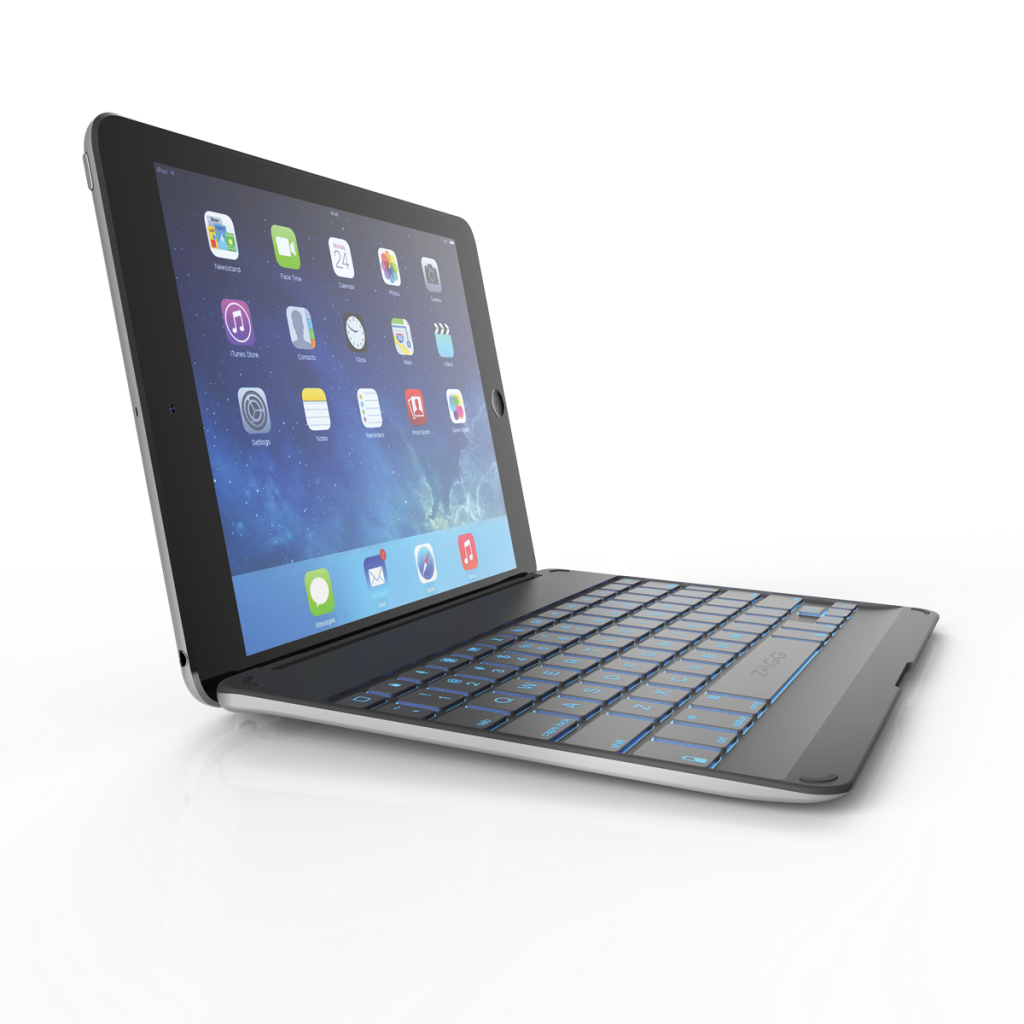 Zagg Case W Backlit Bluetooth Keyboard For Apple Ipad Mini