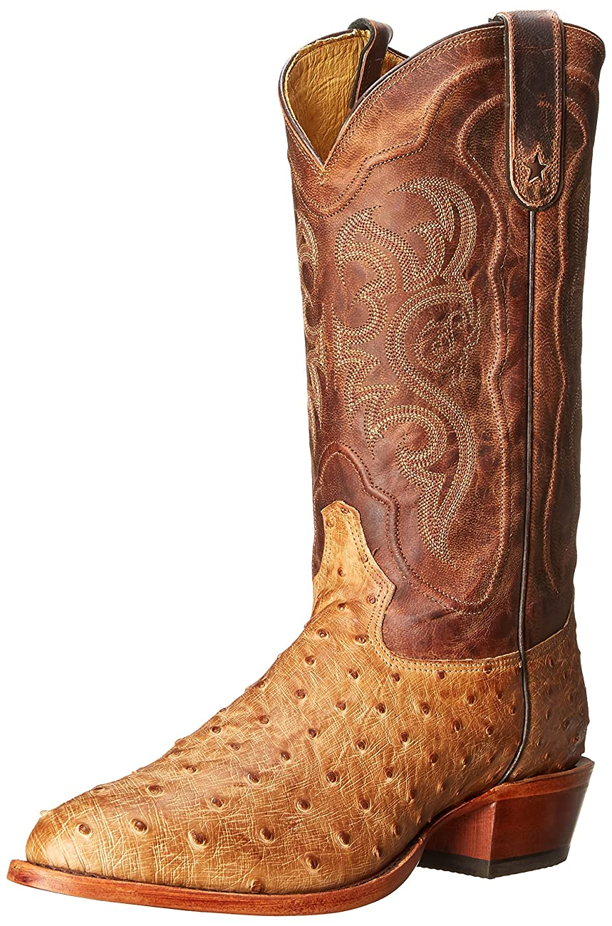 Tony Lama Men's Antique Tan Vintage FQ Ostrich Western Boot 0